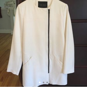 Zara white coat size M